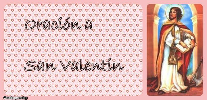 Oracion a San Valentin