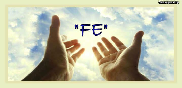 Oracion para afianzar la fe