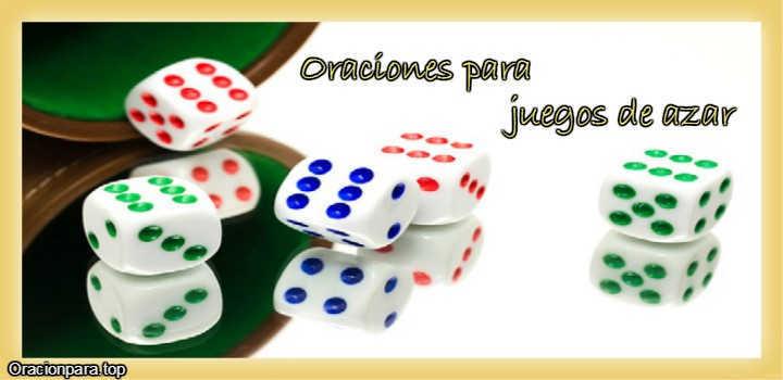 Oraciones para juegos de azar