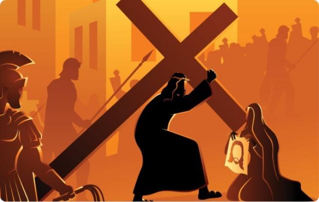 cuarto misterio doloroso jesus con la cruz a cuestas camino del calvario